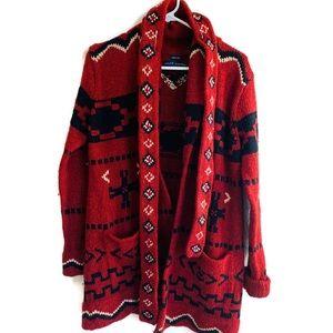 Ralph Lauren Hand knit 100% Lamb wool cardigan L